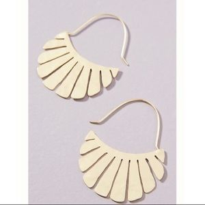 Vada Gold Crescent Earrings - Anthropologie, NWT!